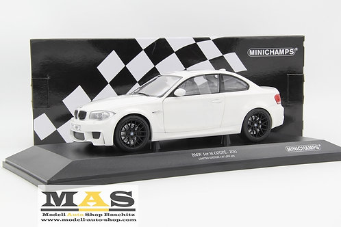 BMW 1er M Coupe 2011 weiss Minichamps 1/18