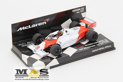 McLaren Ford MP4/1c S. Bellof Test Silverstone 1983 Minichamps 1/43
