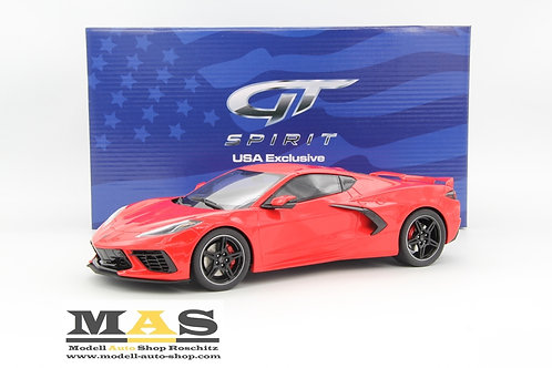 Chevrolet Corvette C8 2020 red GT Spirit 1/18