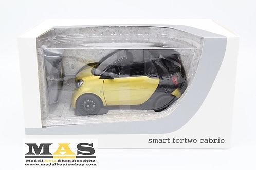 Smart fortwo Cabrio 2014 gelb schwarz Norev 1/18