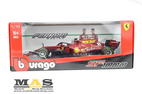 Ferrari SF1000 Toskana GP 2020 1000th GP C. Leclerc Bburago 1/18