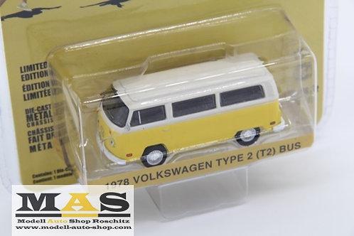 Volkswagen VW T2 Bus 1978 Little Miss Sunshine Greenlight 1/64