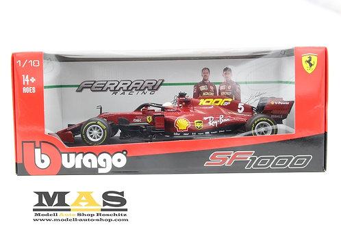 Ferrari SF1000 Toskana GP 2020 1000th GP S. Vettel Bburago 1/18