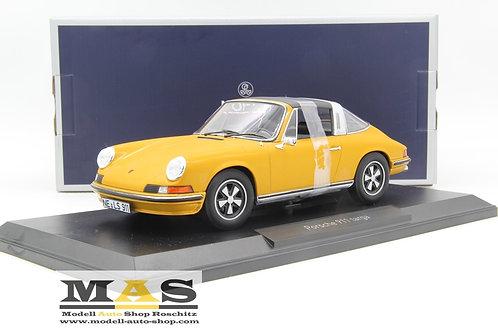 Porsche 911 T 2.4 S Targa 1973 gold met Norev 1/18