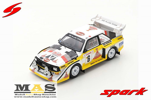 Audi Sport Quattro S1 E2 Mikkola, Hertz Rallye Monte Carlo 1986 Spark 1/43