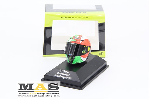 Valentino Rossi AGV Helm Moto GP 2018 Mugello Minichamps 1/8