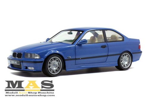 BMW E36 Coupe M3 blau Solido 1/18