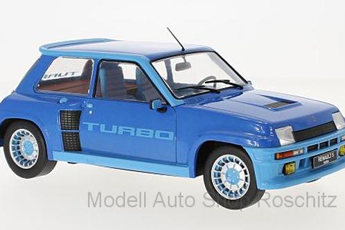 Renault 5 Turbo 1 metallic-blau 1981 IXO 1/18