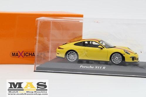 Porsche 911 R 2016 gelb Minichamps 1/43