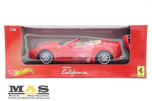 Ferrari California 2008 rot Hot Wheels 1/18