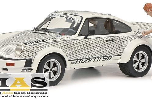 """Porsche 911 """"Röhrl x 911"""" mit Figur Walter Röhrl Schuco 1/18"""