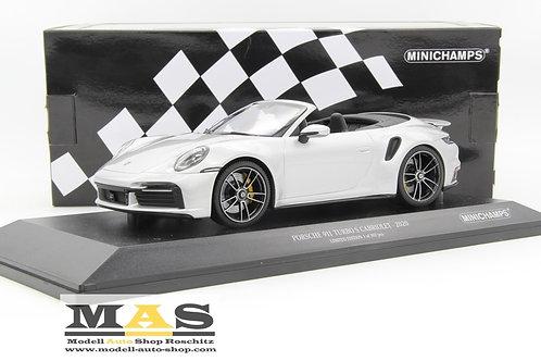 Porsche 911 992 Turbo S Cabrio 2020 silber Minichamps 1/18