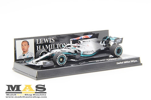 Mercedes AMG W10 L. Hamilton winner British GP 2019 Minichamps 1/43