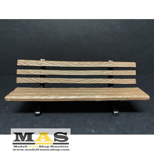 Park bench set 2 pieces in wood look American Diorama 1/18