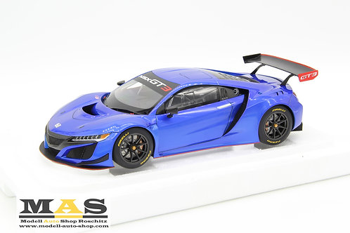 Honda NSX GT3  2018 hyper blau AUTOart 1/18