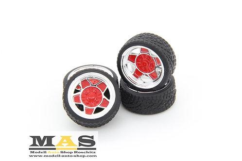 ATS Classic 14 Zoll SD Felgen 1/18 rot, silber, schwarz