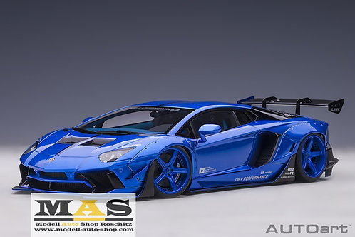 Lamborghini Aventador Liberty Walk LB-Works hyper blau Autoart 1/18