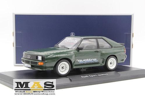 """Audi Sport Quattro 1986 - grün mit """"Quattro"""" Schriftzug Norev 1/18"""