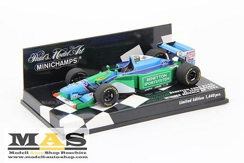 Benetton Ford B194 M. Schumacher winner Monaco GP 1994 Minichamps 1/43