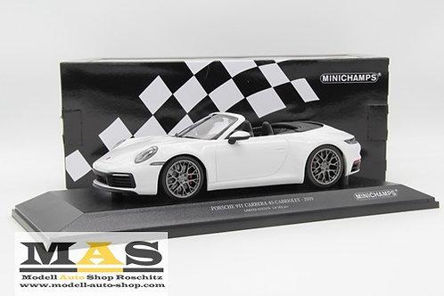 Porsche 911 Carrera 4S Cabriolet 2019 Weiss Minichamps 1/18