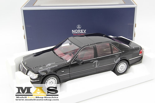 Mercedes S600 W140 (1997) - black with red interieur Norev 1/18