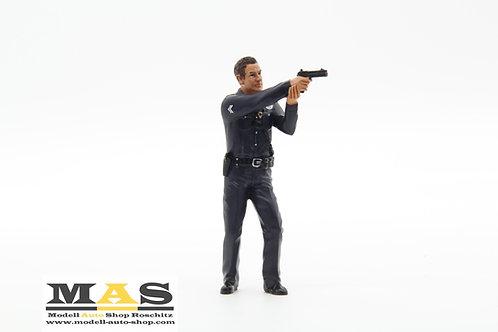 Polizei Figur Police Officer 4 Mann American Diorama 1/18