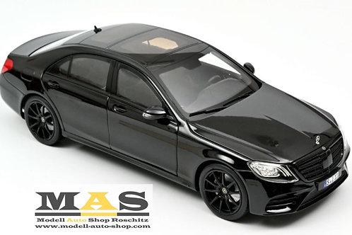 Mercedes Benz S Class AMG Line 2018 black Norev 1/18