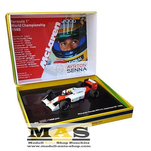 McLaren Honda MP4/4 A. Senna Japan GP 1988 Minichamps 1/43