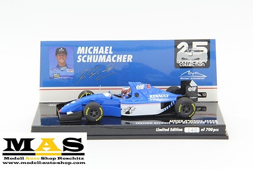 Ligier Renault JS39B M. Schumacher Test Estoril 12. Dez 1994 Minichamps 1/43