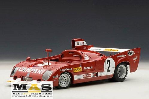 Alfa Romeo 33 TT 12 1975 winner 1000km Spa Francorchamps Autoart 1/18