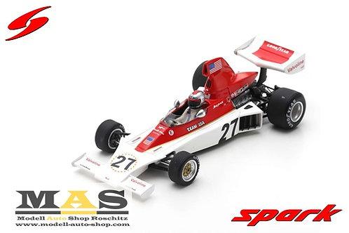 Parnelli VPJ4 M. Andretti Swedish GP 1975 Spark 1/43
