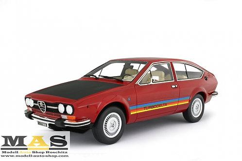 Alfa Romeo Alfetta GTV 2000 Turbodelta 1979 rot Laudoracing 1/18