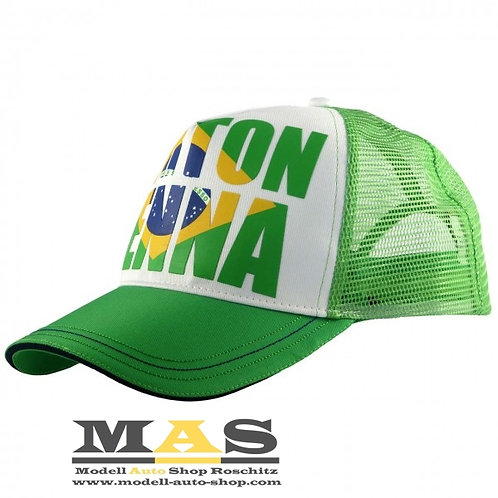 Ayrton Senna Cap Brazil grün Kappe