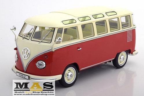 Volkswagen VW Bulli T1 Samba 1962 red beige KK-Scale 1/18