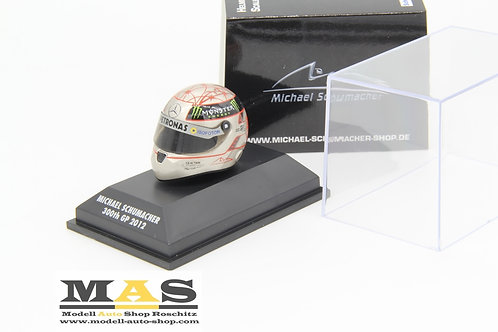 Michael Schumacher Platin Helm 2012 300th GP Spa Mercedes Schuberth 1/8