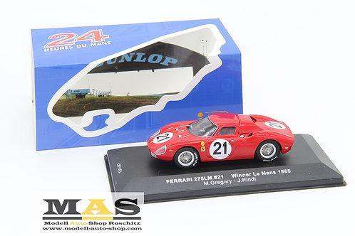 Ferrari 250 LM 24h LeMans 1965 J. Rindt, M. Gregory IXO 1/43