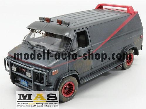 GMC Vandura Cargo G. Serie Van 1983 Weathered Version The A Team Greenlight 1/18