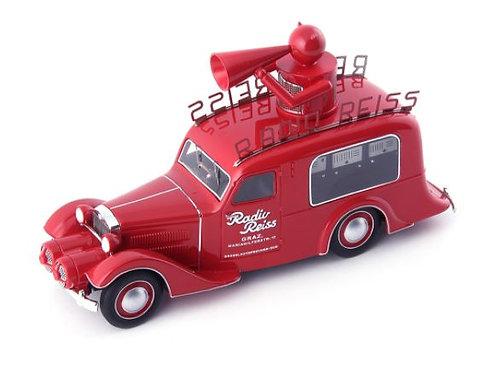Steyr XX Verkaufswagen Radio Reiss Graz 1929 rot AutoCult 1/43