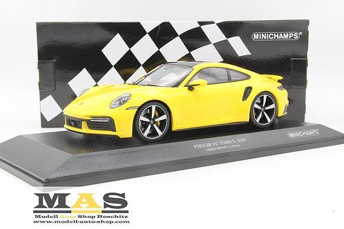Porsche 911 992 Turbo S 2020 yellow Minichamps 1/18