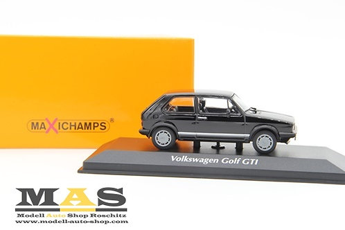 Volkswagen VW Golf 1 GTI Pirelli 1983 black Minichamps 1/43