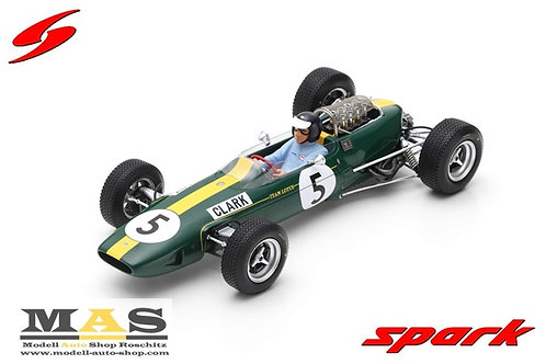 Lotus 33 No.5 Winner British GP 1965 Jim Clark Spark 1/18
