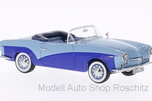 Rometsch Lawrence Cabriolet hellblau/dunkelblau 1957 BoS 1/43