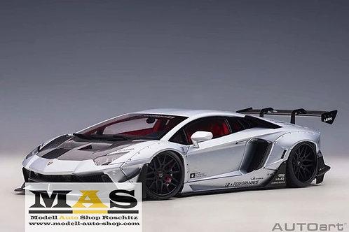 Lamborghini Aventador Liberty Walk LB-Works silber matt Autoart 1/18
