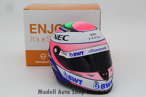 Sergio Perez Force India VJM11 2018 Schuberth 1/2
