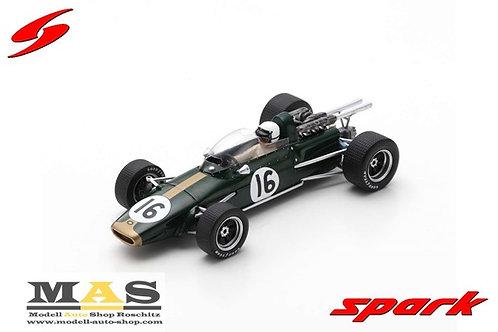 Brabham BT24 J. Brabham Training Italien GP Formel 1 1967 Spark 1/43