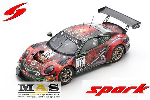 Porsche 911 GT3 R No. 16 Modena Motorsport 24h Spa 2019 Spark 1/43