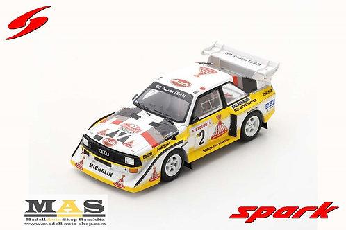 Audi Sport Quattro S1 Rallye Monte Carlo 1986 W. Röhrl C. Geistdörfer Spark 1/43