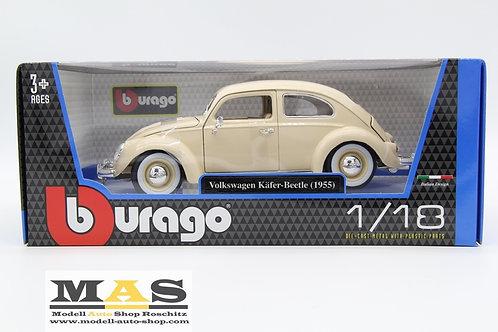 Volkswagen VW Käfer 1955 beige Bburago 1/18