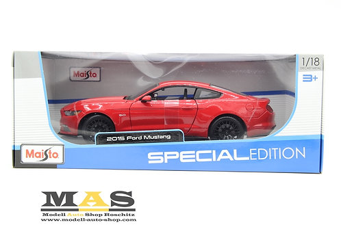 Ford Mustang 2015 rot Maisto 1/18
