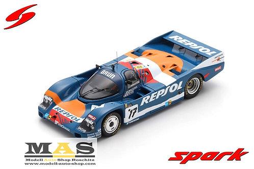 Porsche 962C No. 17 Repsol 24h LeMans 1989 Pareja, Brun, Larrauri Spark 1/43